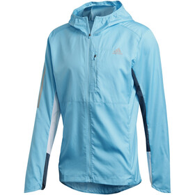 adidas OWN The Run Chaqueta Hombre, signal cyan/white/legacy blue